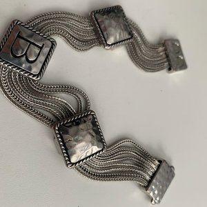 Vintage silver ID bracelet